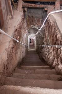 Zejście do kopalni Black Hand dla normalnych turystów
